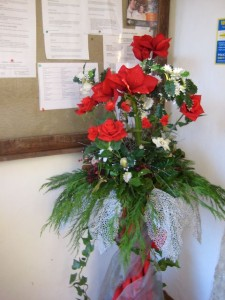 Christmas Flowers in the Porch 2012