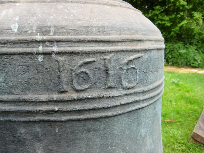 Date on the bell to be used as the clock bell - 1616
