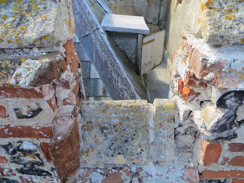 Example of repairs needed at the top of the tower 1