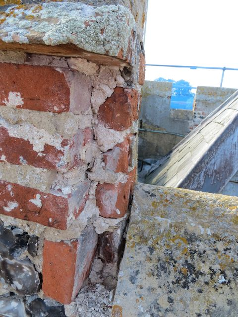 Example of repairs required at the top of the tower 2
