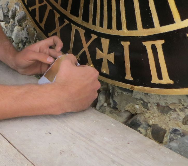 Will adding the final goldleaf to the clock face